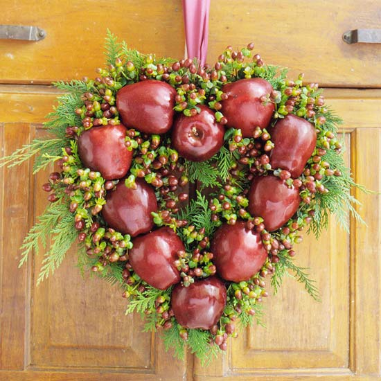Wreath apple heart2