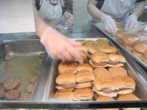 Beef Sliders served on whole grain buns from a local commercial bakery, Pinkerington, OH