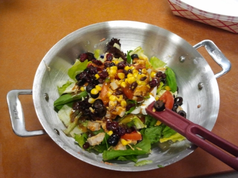 Mixed salad lunch in a bowl