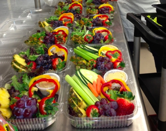 From Kalispell, Montana, these rainbow salads would appeal to any student!!