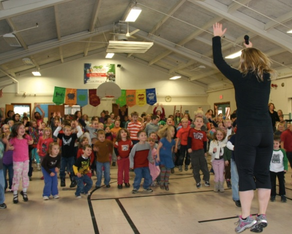 Students in PIttston, Maine, jump for joy (as well as health, wellness and academic success)