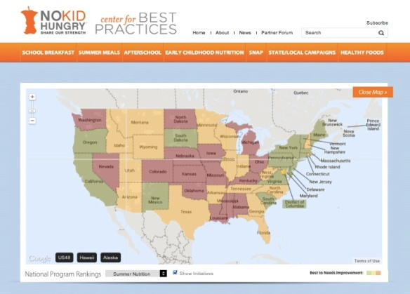 No Kid Hungry: State of Hunger Map