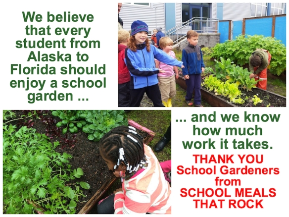 Every successful school garden is the work of many green thumbs