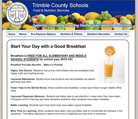 Trimble County Promote School Breakfast