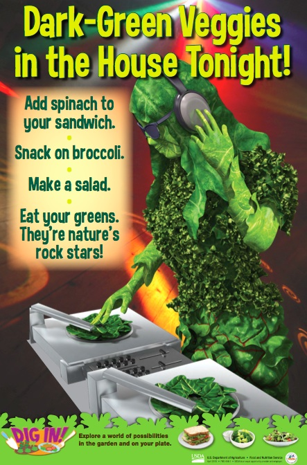 One example of fabulous Dig In Posters from USDA Team Nutrition