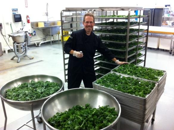 Ed Christensen makes kale chips for 8,000