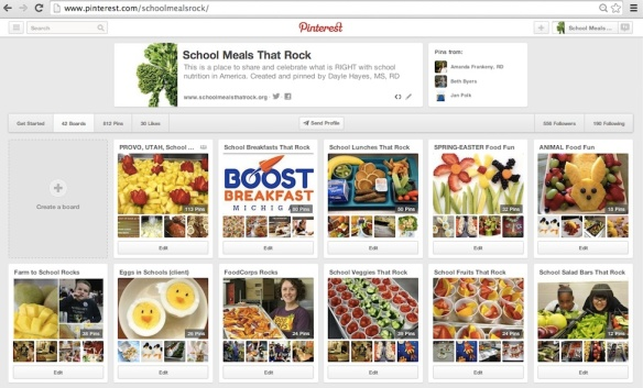 Join School Meals That Rock on PINTEREST!