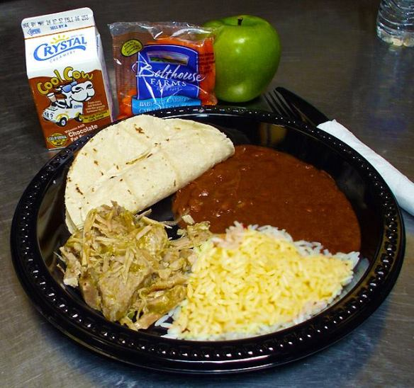 Gonzales Unified, Monterrey (CA) Home-style Chile Verde, Beans, Rice and fresh local tortillas