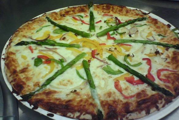 Portland Public Schools (OR): Local grilled Asparagus on Whole Wheat Pizza Crust (May 2014)