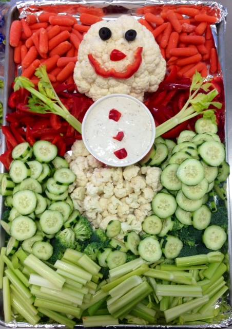 Vegetable Snowman, Dutile Elementary, Billerica. Massachusetts