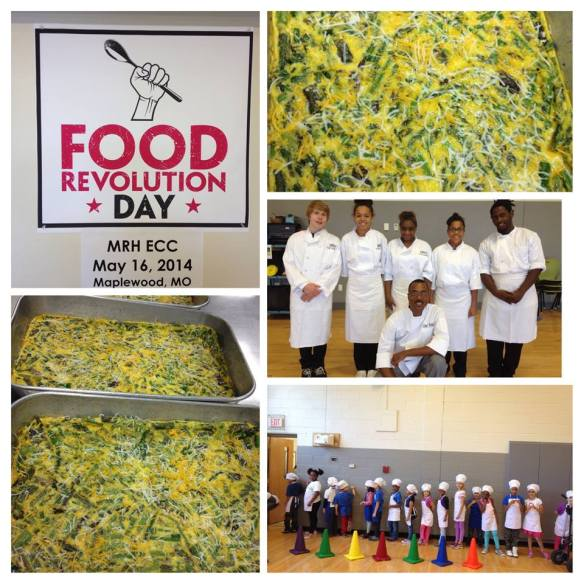 Asparagus Frittata, MRH Team Cuisine, Food Revolution 2014