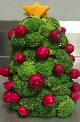 West Chatham Elementary (GA), Broccoli Christmas Tree