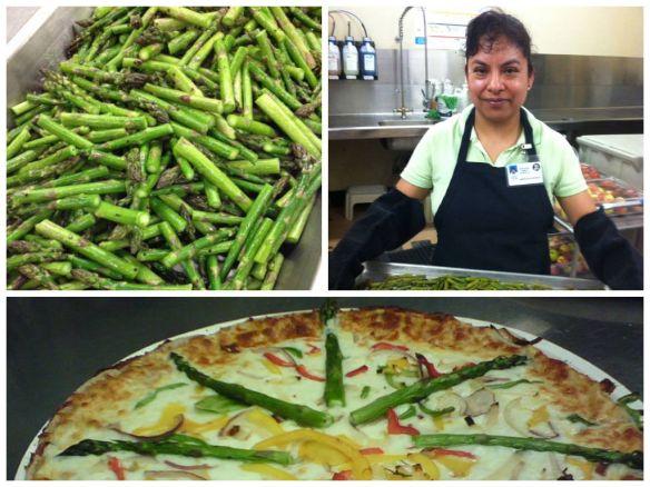 Roasted Asparagus Pizza, Portland Public Schools.