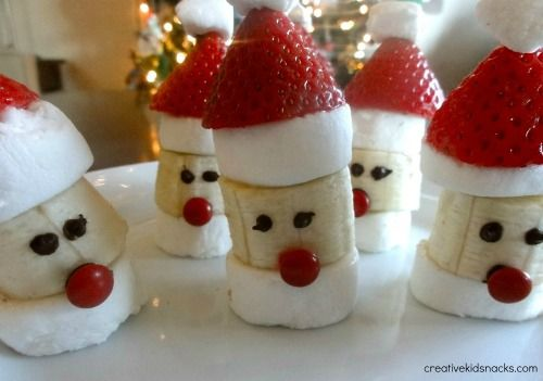 Strawberry-Banana Santas