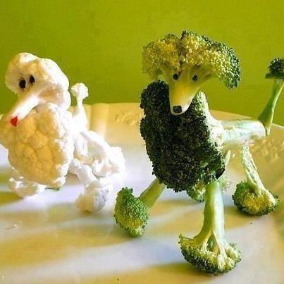 Cauliflower and Broccoli Poodles