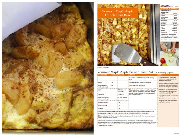 Vermont Maple Apple French Toast Bake