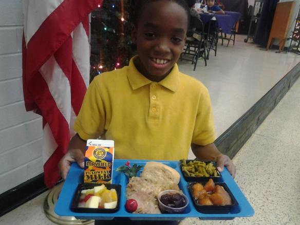 Holiday Meal at Morgan Elementary, Bibb County Schools, Georgia