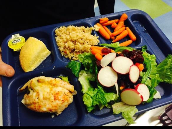 Acadian Redfish School Lunch, Moharimet Elementary, New Hampshire