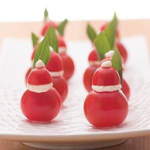 Tomato and Goat Cheese Santas
