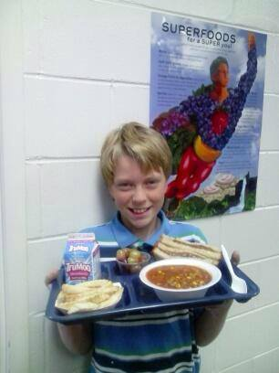 Soup and Grilled Cheese, A SUPER Meal at Hartley Elementary, Bibb County, Georgia