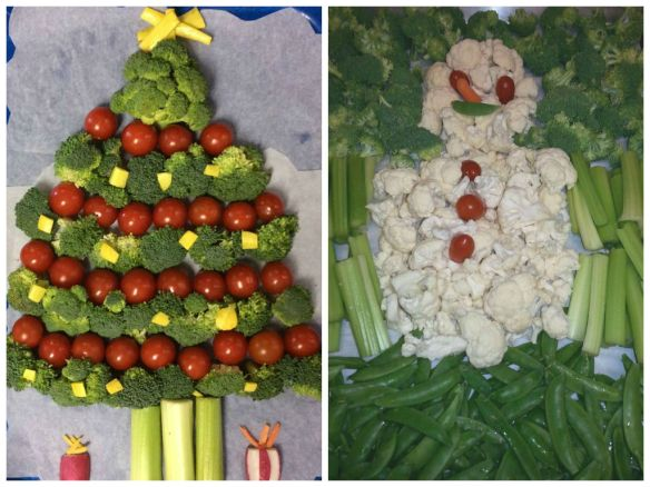 Texas Broccoli Tree & Michigan Cauliflower Snowman