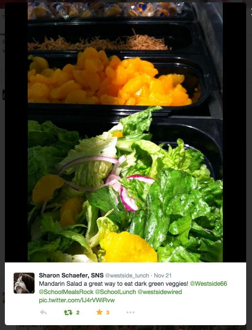 Mandarin Salad Lunch in Westside Cafe, Westside High School, Omaha, Nebraska