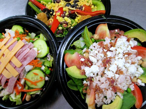 Grab n Go Salads at the secondary level and Chef Salads at the elementary level. First day choices first day delicious!