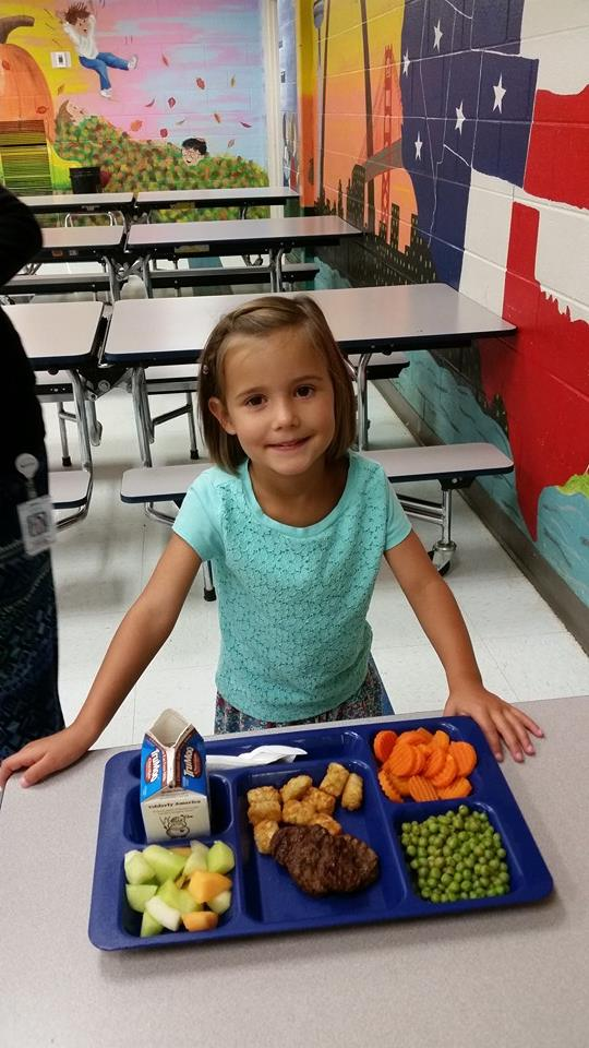 North Lee Elementary Pre-K. Beautiful, healthy tray for smiling faces.