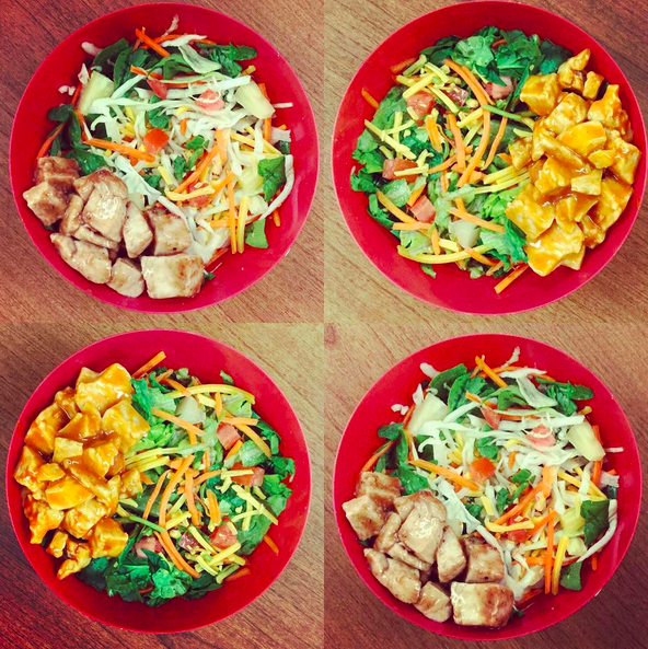 New Chopped Salads on the menu this Fall! Asian Chicken and Buffalo  Chicken. Polk School Nutrition, Polk County, Florida