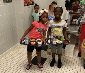 Lunch trays at Waynesboro Primary