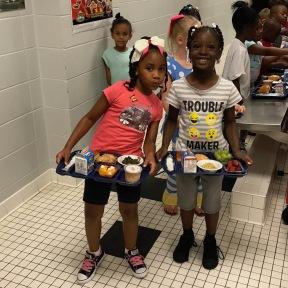 Lunch trays at Waynesboro Primary
